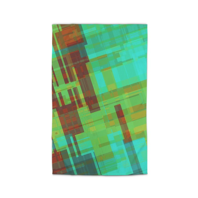 ORange and green abstract Home Rug by Christy Leigh Creative