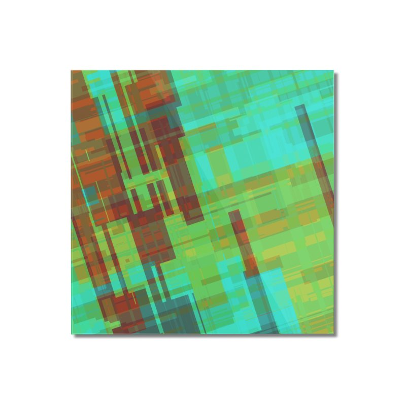 ORange and green abstract Home Mounted Acrylic Print by Christy Leigh Creative