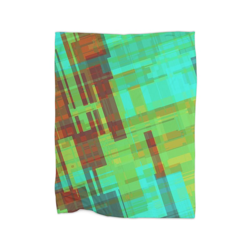 ORange and green abstract Home Blanket by Christy Leigh Creative