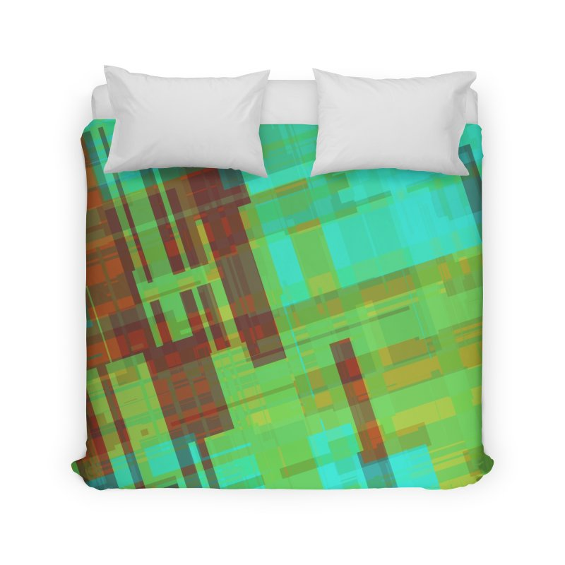 ORange and green abstract Home Duvet by Christy Leigh Creative