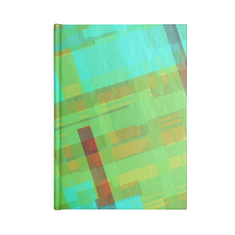 ORange and green abstract Accessories Notebook by Christy Leigh Creative