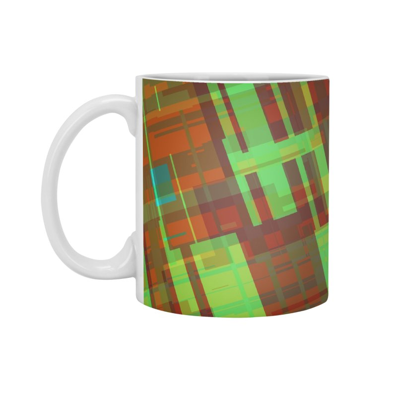 ORange and green abstract Accessories Mug by Christy Leigh Creative