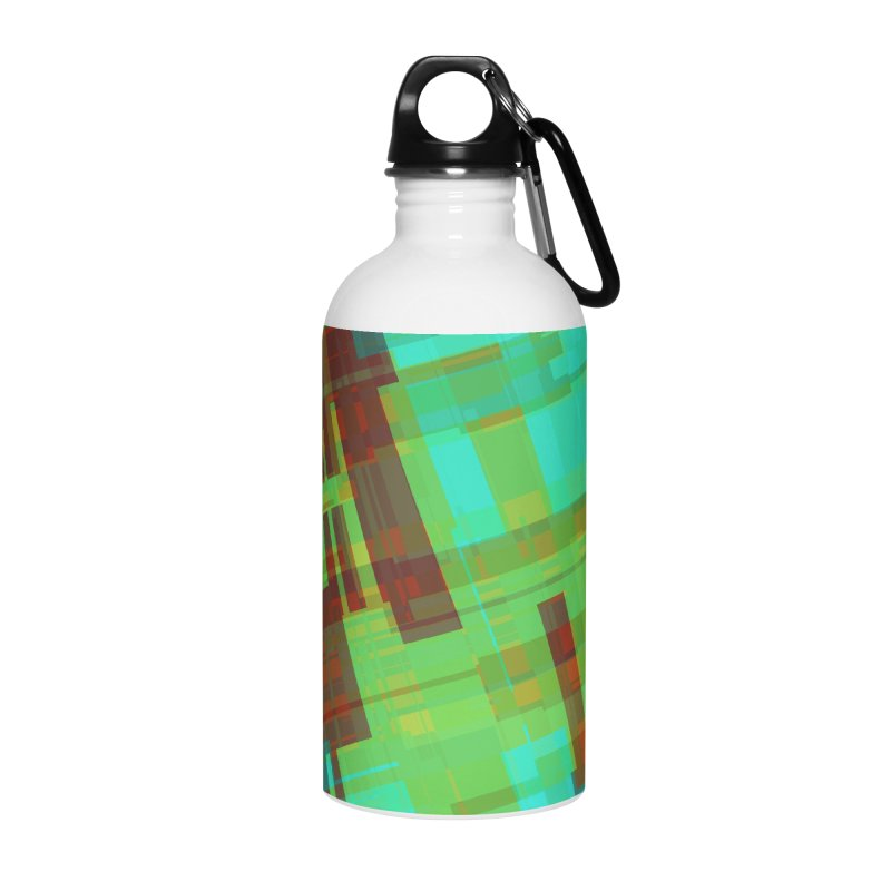 ORange and green abstract Accessories Water Bottle by Christy Leigh Creative