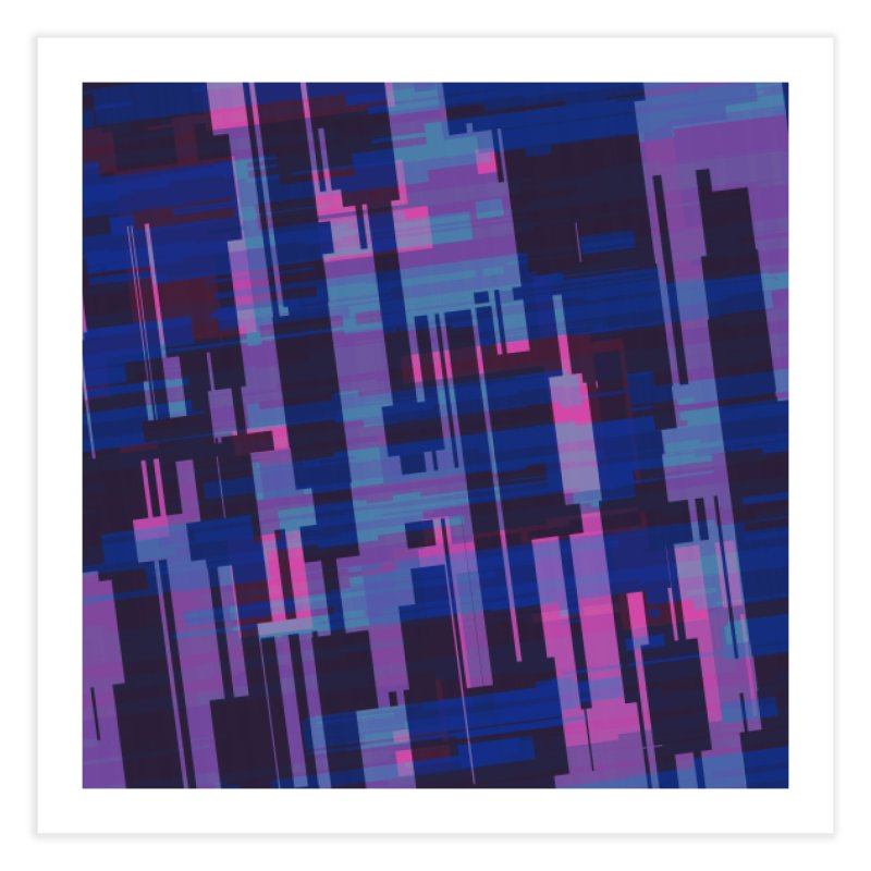 blue purple and pink abstract Home Fine Art Print by Christy Leigh Creative