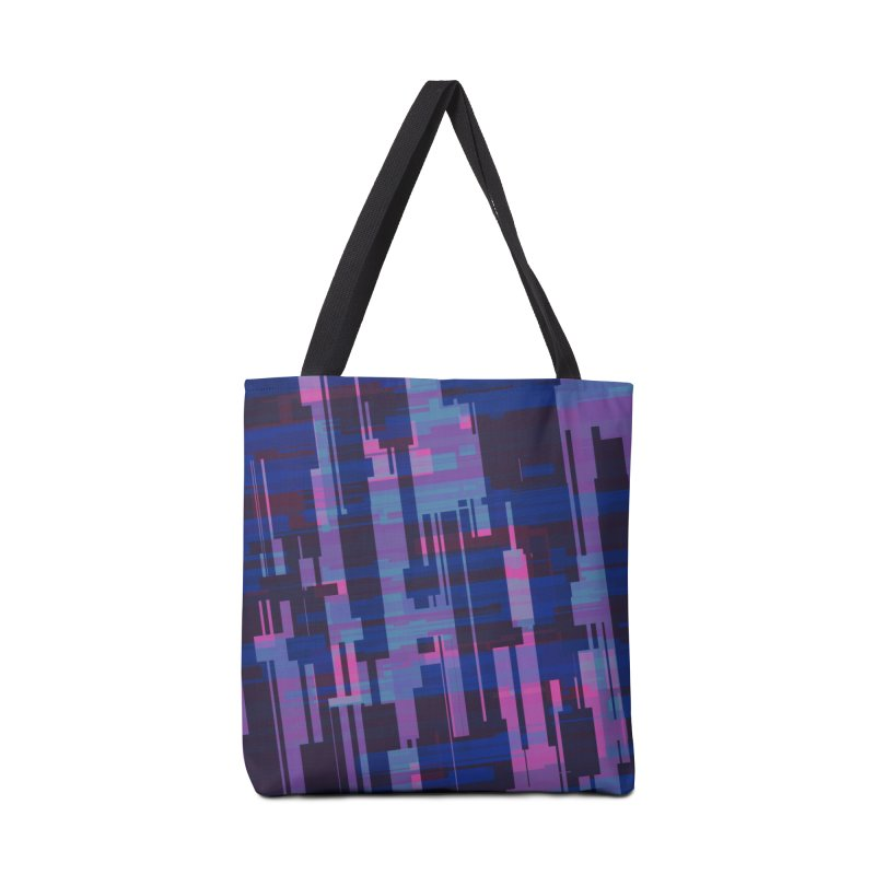 blue purple and pink abstract Accessories Bag by Christy Leigh Creative