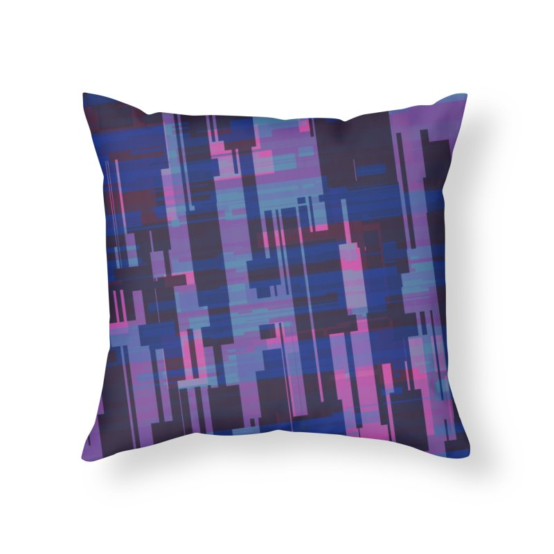 blue purple and pink abstract Home Throw Pillow by Christy Leigh Creative