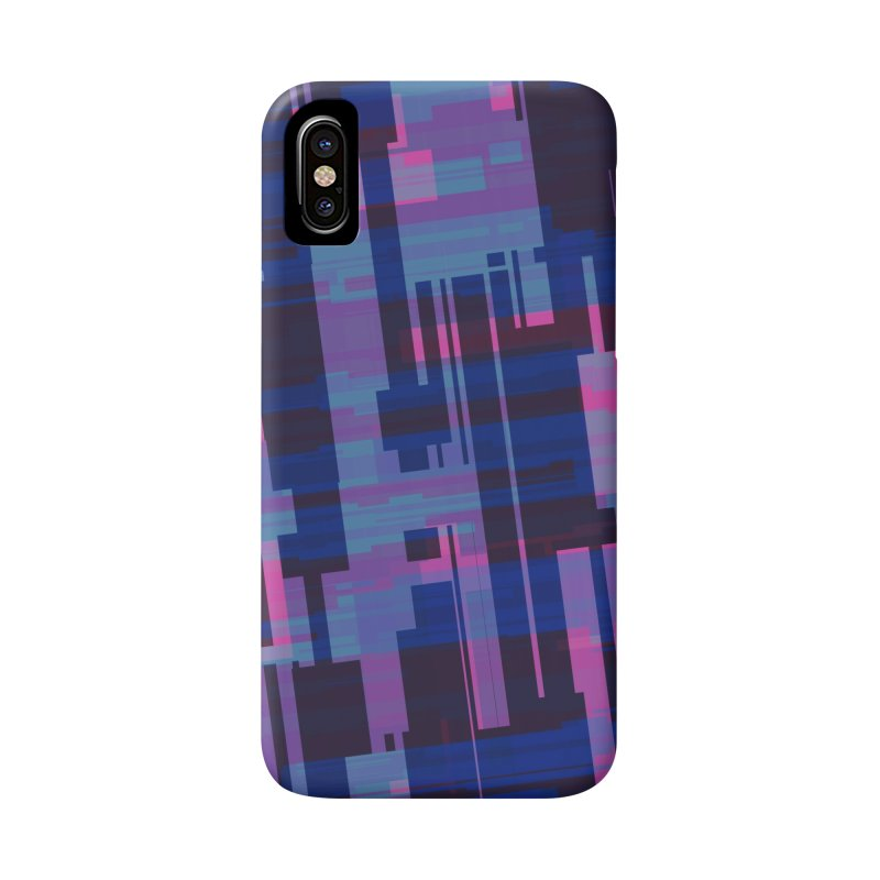 blue purple and pink abstract Accessories Phone Case by Christy Leigh Creative