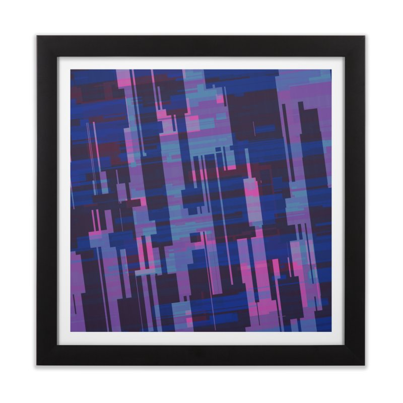 blue purple and pink abstract Home Framed Fine Art Print by Christy Leigh Creative