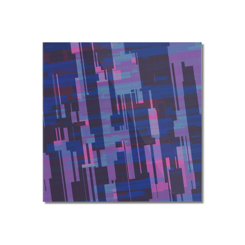blue purple and pink abstract Home Mounted Acrylic Print by Christy Leigh Creative