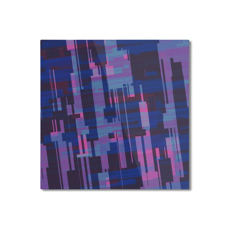 blue purple and pink abstract Home Mounted Aluminum Print by Christy Leigh Creative