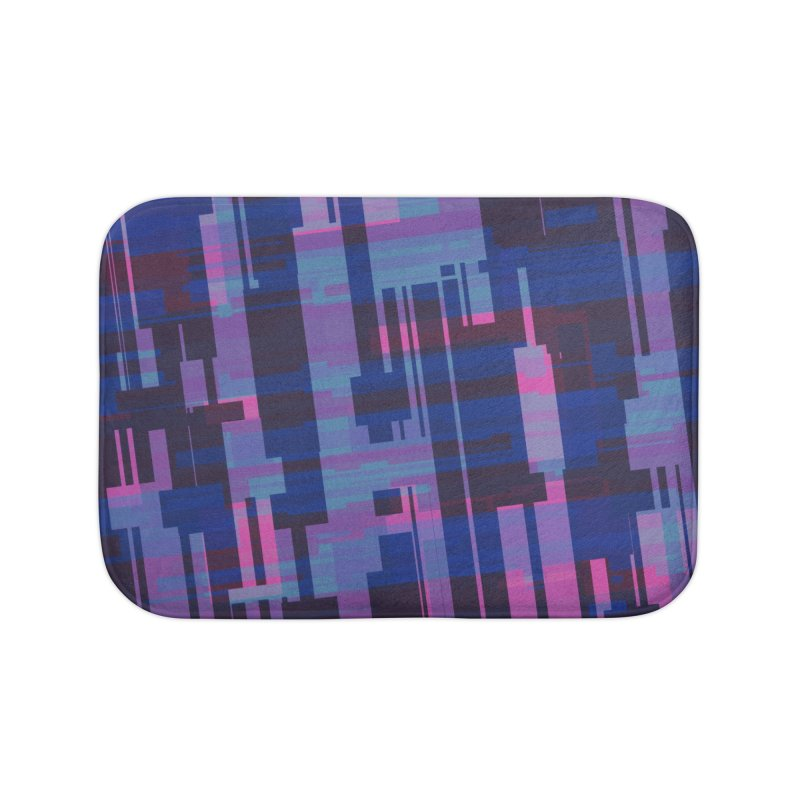 blue purple and pink abstract Home Bath Mat by Christy Leigh Creative