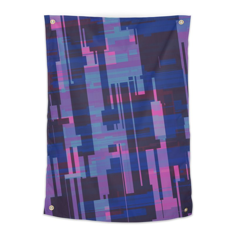 blue purple and pink abstract Home Tapestry by Christy Leigh Creative