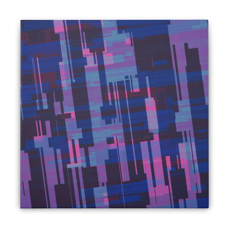 blue purple and pink abstract Home Stretched Canvas by Christy Leigh Creative