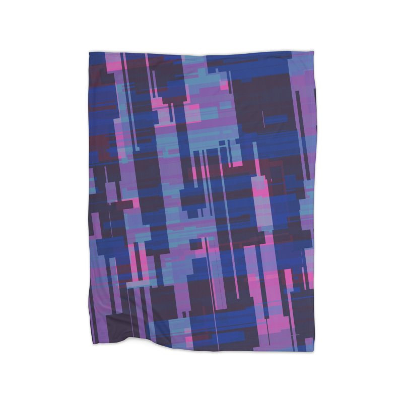 blue purple and pink abstract Home Blanket by Christy Leigh Creative