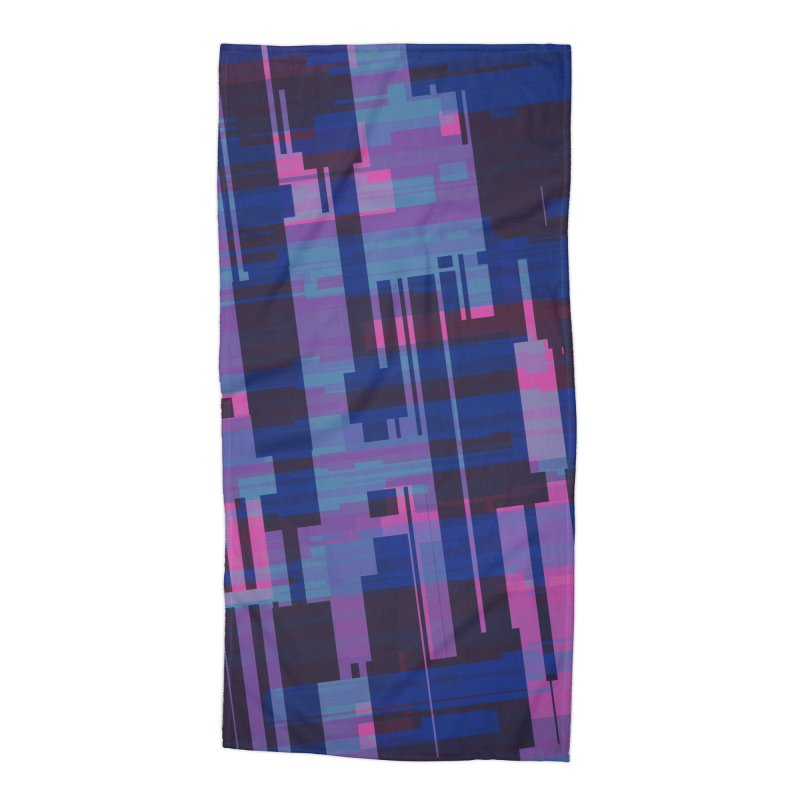 blue purple and pink abstract Accessories Beach Towel by Christy Leigh Creative