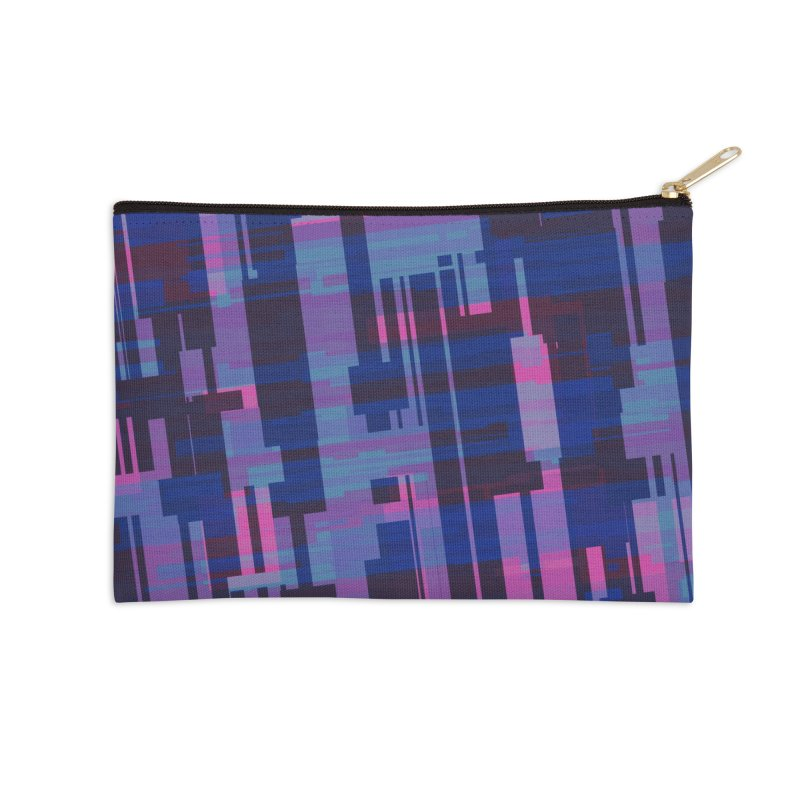 blue purple and pink abstract Accessories Zip Pouch by Christy Leigh Creative