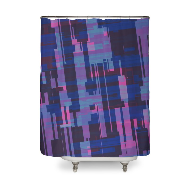 blue purple and pink abstract Home Shower Curtain by Christy Leigh Creative
