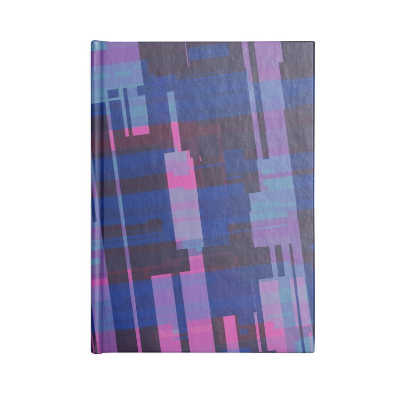 blue purple and pink abstract Accessories Notebook by Christy Leigh Creative