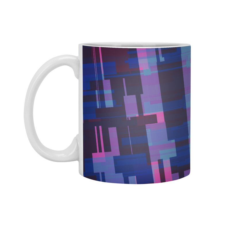 blue purple and pink abstract Accessories Mug by Christy Leigh Creative
