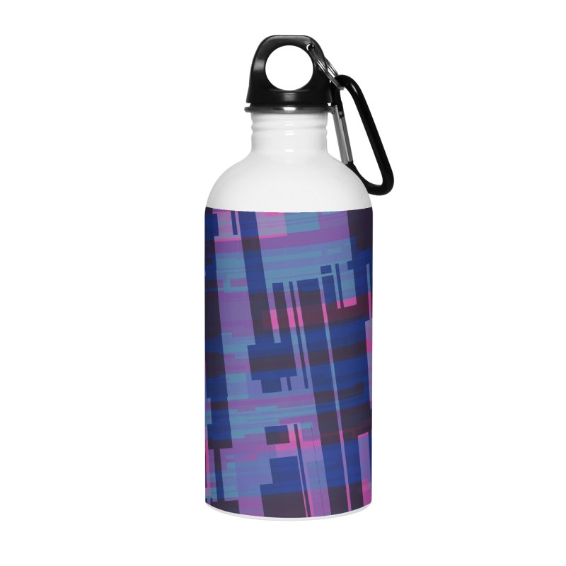 blue purple and pink abstract Accessories Water Bottle by Christy Leigh Creative