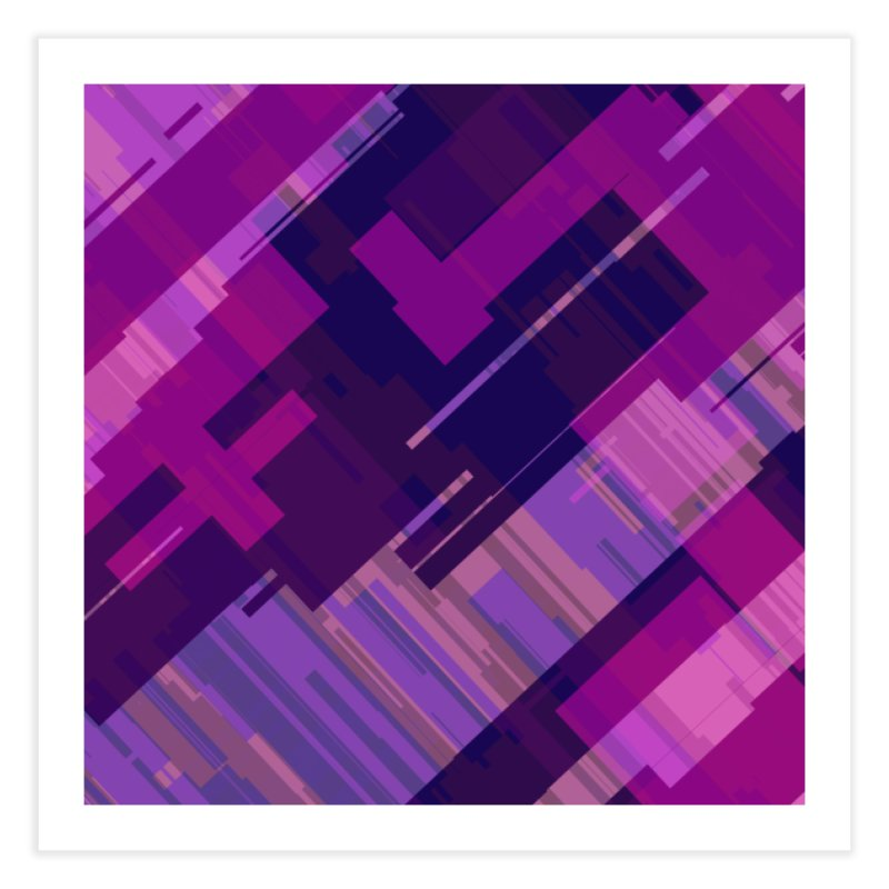purple abstract Home Fine Art Print by Christy Leigh Creative