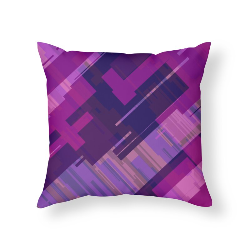 purple abstract Home Throw Pillow by Christy Leigh Creative