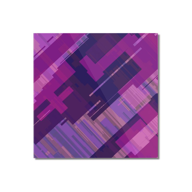 purple abstract Home Mounted Acrylic Print by Christy Leigh Creative