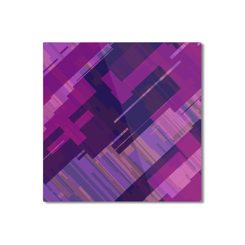purple abstract Home Mounted Aluminum Print by Christy Leigh Creative