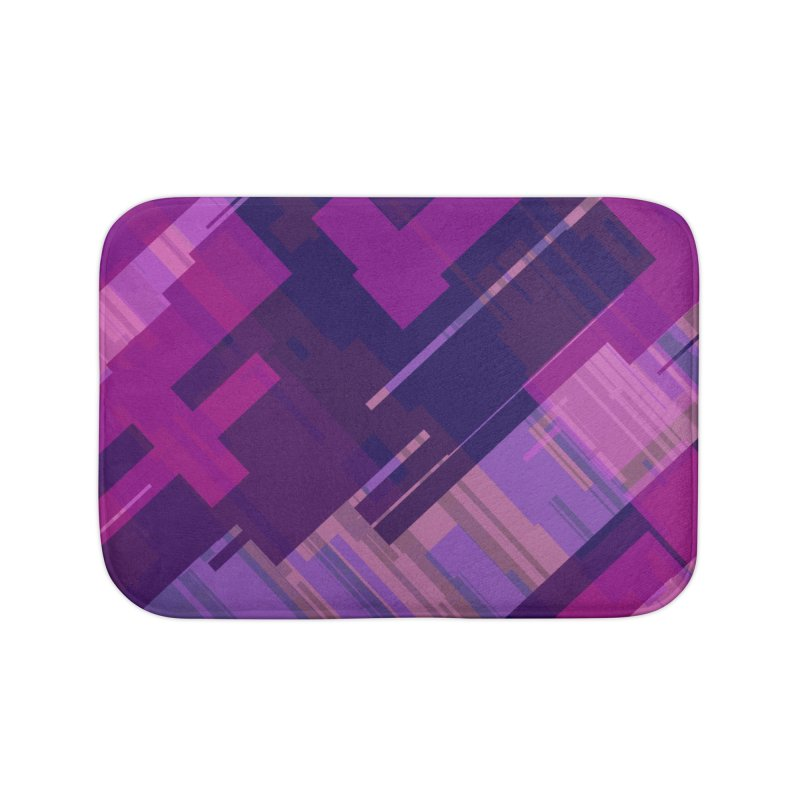 purple abstract Home Bath Mat by Christy Leigh Creative