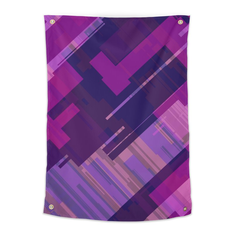 purple abstract Home Tapestry by Christy Leigh Creative
