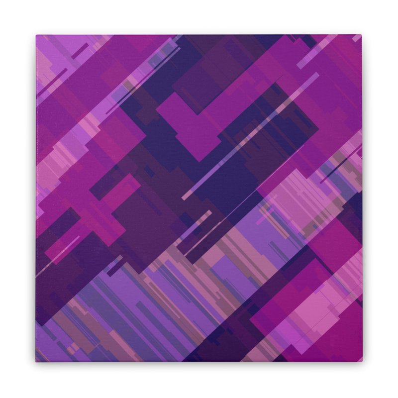 purple abstract Home Stretched Canvas by Christy Leigh Creative