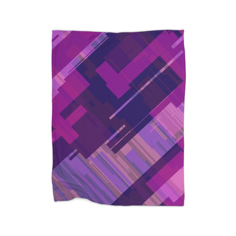 purple abstract Home Blanket by Christy Leigh Creative