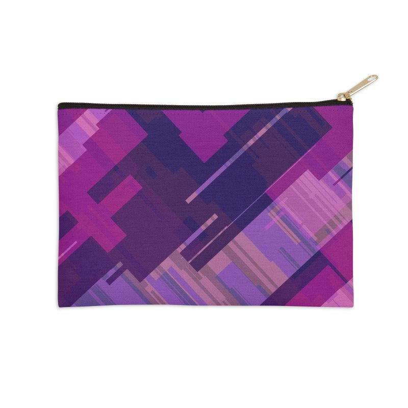 purple abstract Accessories Zip Pouch by Christy Leigh Creative