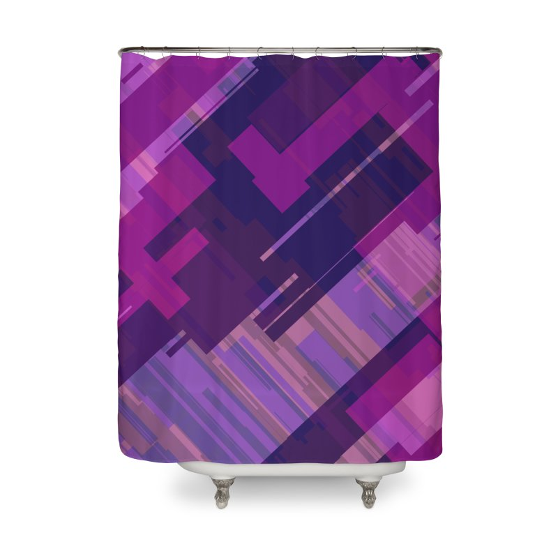 purple abstract Home Shower Curtain by Christy Leigh Creative