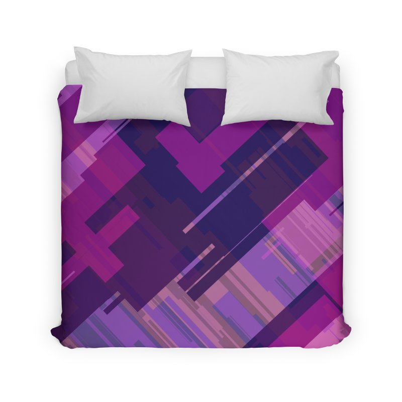 purple abstract Home Duvet by Christy Leigh Creative