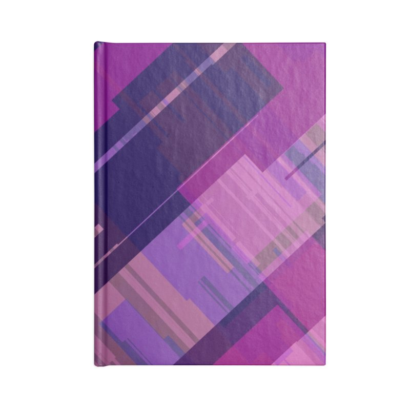 purple abstract Accessories Notebook by Christy Leigh Creative