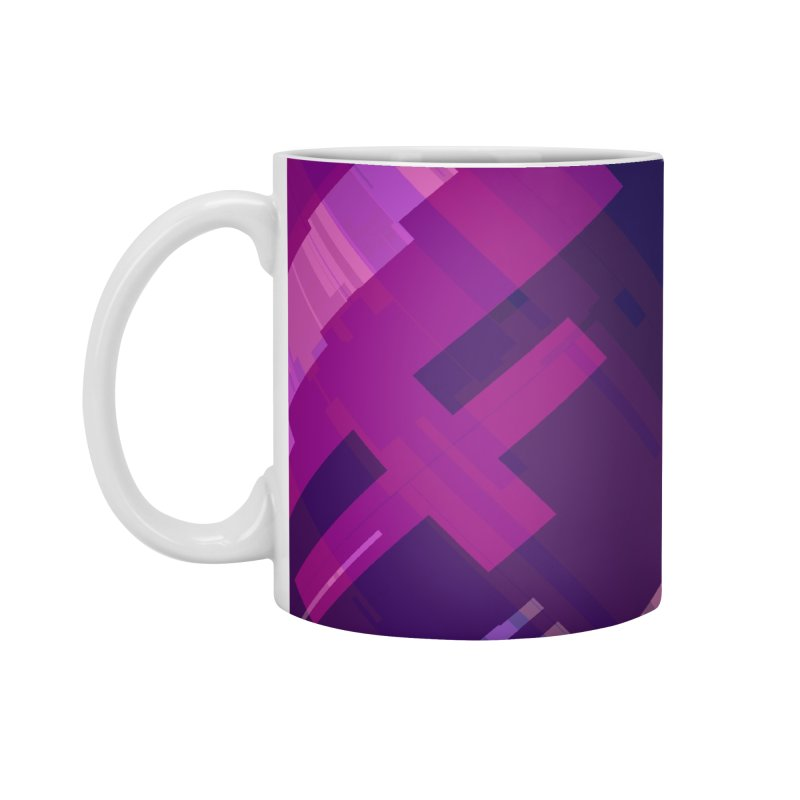 purple abstract Accessories Mug by Christy Leigh Creative