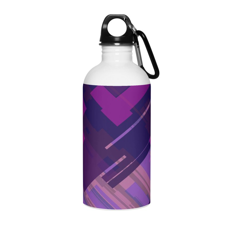 purple abstract Accessories Water Bottle by Christy Leigh Creative