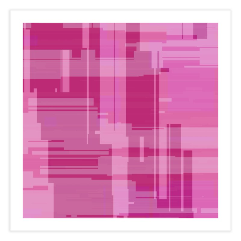 pink abstract Home Fine Art Print by Christy Leigh Creative