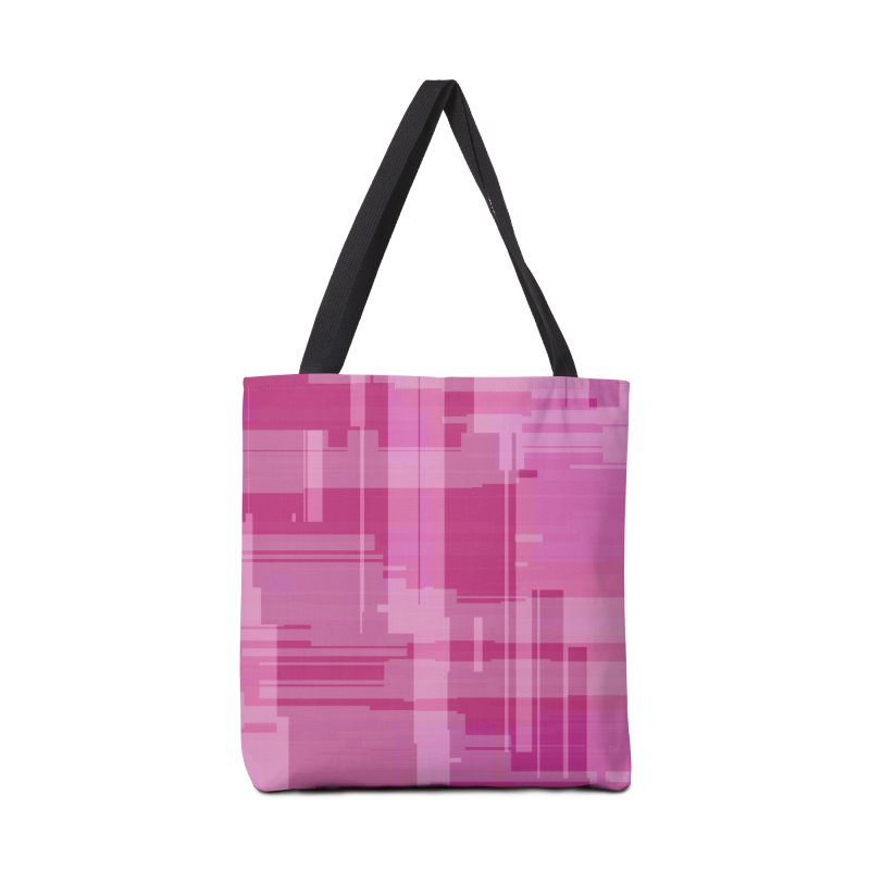 pink abstract Accessories Bag by Christy Leigh Creative