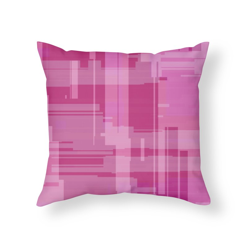 pink abstract Home Throw Pillow by Christy Leigh Creative