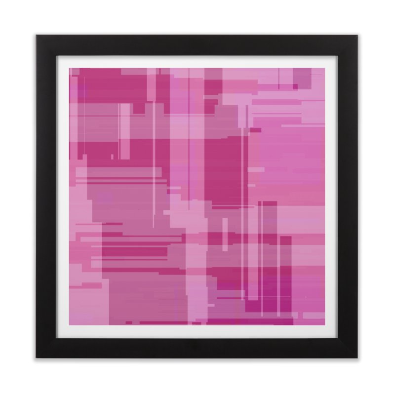 pink abstract Home Framed Fine Art Print by Christy Leigh Creative