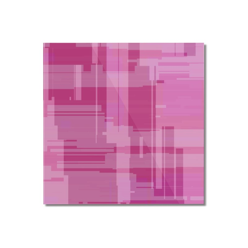 pink abstract Home Mounted Acrylic Print by Christy Leigh Creative