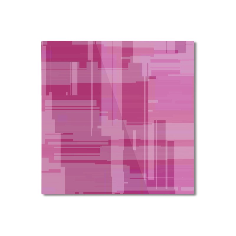 pink abstract Home Mounted Aluminum Print by Christy Leigh Creative