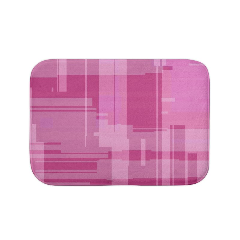 pink abstract Home Bath Mat by Christy Leigh Creative