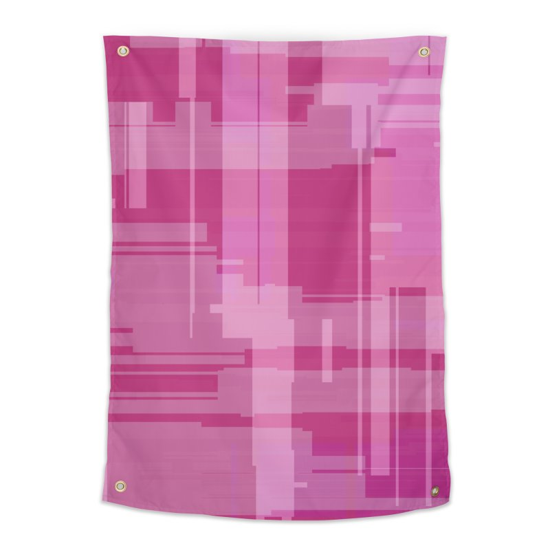 pink abstract Home Tapestry by Christy Leigh Creative