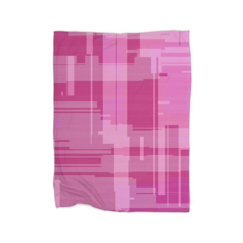 pink abstract Home Blanket by Christy Leigh Creative