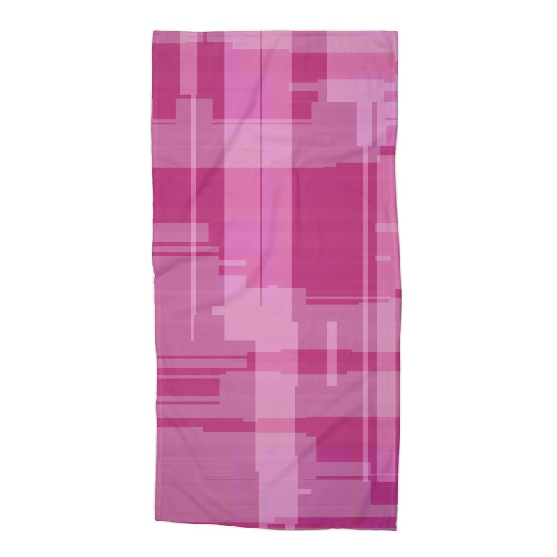 pink abstract Accessories Beach Towel by Christy Leigh Creative