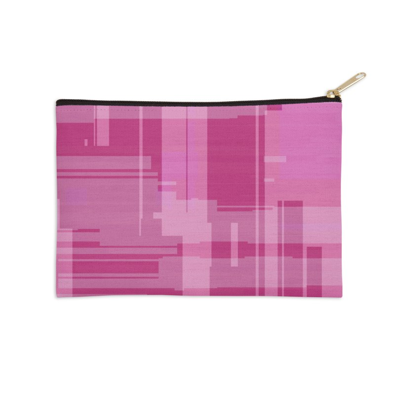pink abstract Accessories Zip Pouch by Christy Leigh Creative