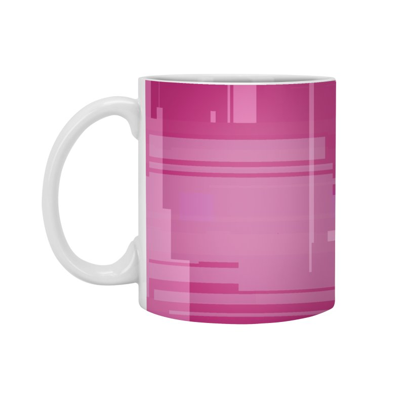 pink abstract Accessories Mug by Christy Leigh Creative